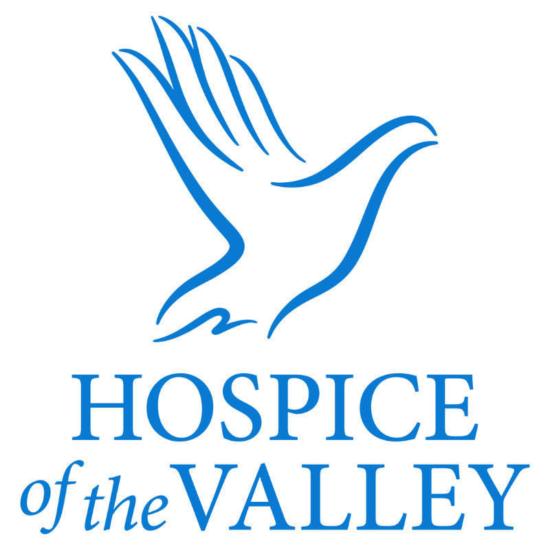 Hospice of the Valley logo blue on white background
